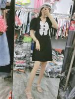 Dress Summer 2021 Medium length skirt Short sleeve Condom 915 M,L