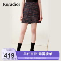 skirt Autumn of 2019 S M L XL XXL black Short skirt Versatile Natural waist A-line skirt other Type A 35-39 years old 81% (inclusive) - 90% (inclusive) other Koradior / coretti polyester fiber Splicing Polyester 89.1% other 10.9%