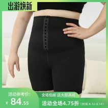 Women's large Spring 2021, summer 2021 Black, complexion Other oversize styles singleton  commute Self cultivation moderate Solid color Simplicity Cotton, others Three dimensional cutting miss38 30-34 years old 81% (inclusive) - 90% (inclusive) shorts