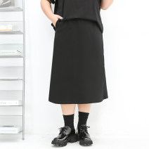 Women's large Summer 2021 Short skirt, medium skirt Four, five, six, seven, eight, nine skirt singleton  commute easy moderate Solid color Korean version Polyester, nylon, others Three dimensional cutting miss38 30-34 years old 71% (inclusive) - 80% (inclusive)