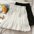 skirt Summer 2021 Average size White, black Short skirt High waist A-line skirt Solid color 18-24 years old A281232 30% and below other