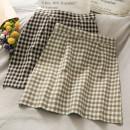 skirt Summer 2021 S,M,L,XL Black, khaki, khaki Short skirt Versatile High waist Pleated skirt Dot Type A 18-24 years old A280733 30% and below