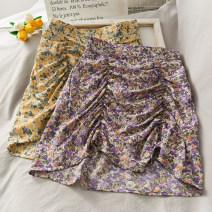 skirt Spring 2020 S, M Yellow, purple, green, pink Short skirt Versatile High waist skirt Decor 18-24 years old A27197 30% and below other