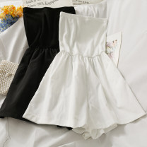 Casual pants White, black Average size Summer 2021 shorts Wide leg pants High waist 18-24 years old 30% and below A281411