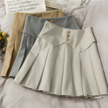 skirt Spring 2021 S,M,L,XL Short skirt commute High waist A-line skirt Type A 18-24 years old 30% and below other other Korean version