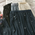 skirt Winter 2020 Average size Black, dark blue, apricot, light grey blue Mid length dress High waist Pleated skirt 18-24 years old A280092 30% and below other other