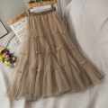 skirt Autumn 2020 Average size Khaki, black on black, blue on black, apricot on black Mid length dress High waist A-line skirt 18-24 years old A279977 30% and below other other