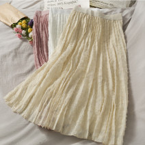 skirt Autumn 2020 Average size Black, apricot, white, pink Mid length dress High waist 18-24 years old A279873 30% and below other other