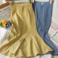 skirt Summer 2021 S,M,L,XL Blue, yellow, black Mid length dress commute High waist skirt 18-24 years old A281490 30% and below other other