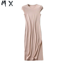 Dress Summer 2020 Black, cherry red, Dark Khaki, beige Average size Mid length dress singleton  street Crew neck middle-waisted Solid color A-line skirt Others 30-34 years old 51% (inclusive) - 70% (inclusive) other cotton Europe and America
