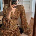 Women's large Summer 2021 Orange color S M L XL 2XL 3XL Dress commute Korean version Little IDA's flower 18-24 years old Other 100% Pure e-commerce (online only)