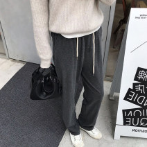 Women's large Spring 2021, summer 2021, winter 2021, autumn 2021 Dark grey, oatmeal M [recommended 80-95 kg], l [recommended 98-110 kg], XL [recommended 115-135 kg], 2XL [recommended 135-155 kg], 3XL [recommended 160-180 kg], 4XL [recommended 180-200 kg] trousers singleton  commute easy thickening