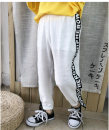 trousers male White summer trousers Korean version There are models in the real shooting Casual pants Leather belt middle-waisted cotton Don't open the crotch Polyester 100% K9210 Class B