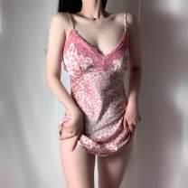 Dress Spring 2021 Graph color M, L Short skirt Sleeveless V-neck Socket camisole printing