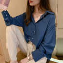 shirt Blue, white, pink M 85-100kg, l 100-115kg, XL 115-130kg, 2XL 130-150kg, 3XL 150-170kg, 4XL 170-200kg Autumn of 2019 polyester fiber 31% (inclusive) - 50% (inclusive) Long sleeves commute Medium length Polo collar Single row multi button Solid color 25-29 years old Straight cylinder Button