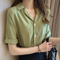 shirt Green, white, orange M 85-100kg, l 100-115kg, XL 115-130kg, 2XL 130-145kg, 3XL 145-160kg, 4xl160-180kg Summer 2021 polyester fiber 31% (inclusive) - 50% (inclusive) Short sleeve commute Regular tailored collar Single row multi button routine Solid color 25-29 years old Straight cylinder