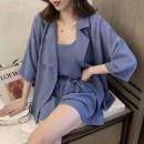 Casual suit Spring 2020 Blue, black, pink M 85-100kg, l 100-115kg, XL 115-130kg, 2XL 130-150kg, 3XL 150-170kg, 4XL 170-200kg 18-25 years old 31% (inclusive) - 50% (inclusive) polyester fiber