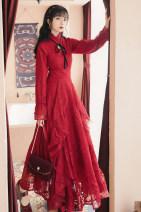 Dress Autumn 2020 Picture color S,M,L longuette singleton  Long sleeves commute middle-waisted Solid color routine
