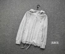 Wool knitwear Autumn 2016 S,M,L,XL Light grey Long sleeves singleton  Socket other More than 95% Regular routine street Straight cylinder Hood raglan sleeve Single breasted Sports & Leisure