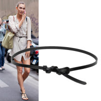 Belt / belt / chain Double skin leather White, red, black, brown, camel, sky blue female belt leisure time Single loop Youth, youth, middle age a hook bow Glossy surface 1cm alloy Bows, naked A thousand waist and a hundred belts WDX0048 113cm,103cm