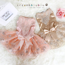 Pet clothing / raincoat currency Wedding dress princess