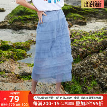 skirt Summer of 2019 S,M,L,XL blue Mid length dress grace High waist A-line skirt other Type A 25-29 years old 9XQB21508 other OLrain other Lace