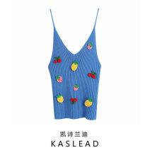 Vest sling Spring 2021 blue S,M,L routine street camisole