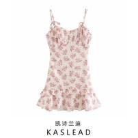 Dress Summer 2020 Decor S,M,L Short skirt singleton  street Broken flowers Socket camisole Europe and America