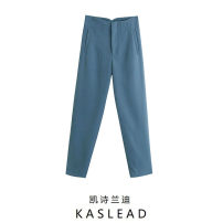 Casual pants Blue, green, khaki, black, rose, ground white, light green, orange powder, beige XS,S,M,L Spring 2021 trousers Straight pants High waist street Europe and America