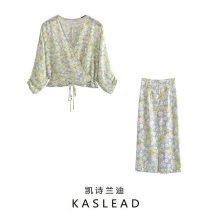 Fashion suit Spring 2021 XS,S,M,L Shirt, skirt