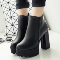 Boots Thirty-nine Black cotton 720058 PU