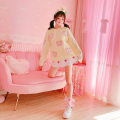 Wool knitwear Autumn 2020 Average size Yellow pink Long sleeves singleton  Socket acrylic fibres 31% (inclusive) - 50% (inclusive) Regular routine commute easy Hood routine Cartoon animation Socket Korean version A3498 25-29 years old Harsh and beautiful Pure e-commerce (online only)