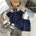 suit Other / other Off white, orange, beige, Navy, summer special 80cm,90cm,100cm,110cm,120cm,130cm neutral summer Korean version Short sleeve + pants 2 pieces Thin money No model Socket nothing Solid color other elder Expression of love Class B Other 100% Chinese Mainland