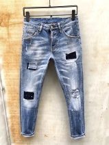Jeans Fashion City Tagkita / she and others 44 for 28.29, 46 for 30, 48 for 31.32, 50 for 33.34, 52 for 35.36, 54 for 37.38 wathet Micro bomb Regular denim trousers Other leisure youth Medium low back Slim feet tide cotton