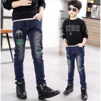 trousers Of male 120cm,130cm,140cm,150cm,160cm,170cm spring and autumn trousers leisure time Jeans 3 months