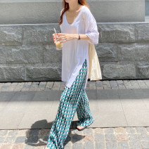 T-shirt Pants piece, jacket piece Average size Summer 2021 Short sleeve Crew neck easy Regular routine commute other 30% and below 18-24 years old Korean version youth Solid color