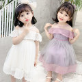 Dress Purple, off white female Other / other Size 90 (height 78-87cm, age 1-2), size 100 (height 88-97cm, age 2-3), Size 110 (height 98-107cm, age 3-4), Size 120 (height 108-117cm, age 4-5), Size 130 (height 118-130cm, age 5-6) Other 100% summer princess Short sleeve Solid color cotton Class B