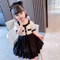 Dress black female Other / other Size 80 (height 70-78cm, age 1), Size 90 (height 78-87cm, age 1-2), size 100 (height 88-97cm, age 2-3), Size 110 (height 98-107cm, age 3-4), Size 120 (height 108-117cm, age 4-5), Size 130 (height 118-130cm, age 5-6) Other 100% summer princess Short sleeve Solid color