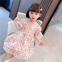 Dress Off white female Other / other Size 80 (height 70-78cm, age 1), Size 90 (height 78-87cm, age 1-2), size 100 (height 88-97cm, age 2-3), Size 110 (height 98-107cm, age 3-4), Size 120 (height 108-117cm, age 4-5), Size 130 (height 118-130cm, age 5-6) Other 100% summer princess Short sleeve cotton