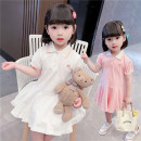 Dress Pink, white female Other / other Size 80 (height 70-78cm, age 1), Size 90 (height 78-87cm, age 1-2), size 100 (height 88-97cm, age 2-3), Size 110 (height 98-107cm, age 3-4), Size 120 (height 108-117cm, age 4-5), Size 130 (height 118-130cm, age 5-6) Other 100% summer princess Short sleeve cotton