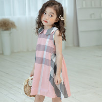 Dress Pink plaid skirt 60679 female Other / other The recommended height is 95-105cm for Size 110, 106-115cm for Size 120, 120cm for Size 130, 125-130cm for size 140 and 135-140cm for size 150 Cotton 100% summer fresh Short sleeve lattice cotton A-line skirt Class B 5, 9, 12, 7, 8, 6, 11, 10, 4, 3