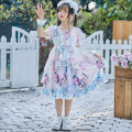 Dress Blue pink short sleeve Lolita 9037 female Other / other The recommended height is 100-105cm for Size 110, 106-115cm for Size 120, 116-125cm for Size 130, 126-134cm for size 140 and 135-140cm for size 150 Other 100% spring and autumn Lolita Long sleeves Cartoon animation other other Class B