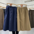 skirt Spring 2021 Average size Blue, apricot, black, gray, card, apricot thin, black thin, gray thin, spring and summer suggestion: thin Mid length dress commute High waist Umbrella skirt Solid color Type A 18-24 years old 91% (inclusive) - 95% (inclusive) brocade Other / other cotton literature