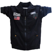 Jacket Other / other Youth fashion Black, army green M,L,XL,2XL,3XL,4XL routine easy motion autumn Long sleeves Wear out Baseball collar Youthful vigor youth routine Zipper placket 2017 Rib hem No iron treatment Closing sleeve Solid color Rib bottom pendulum Side seam pocket cotton More than 95%