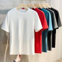 T-shirt Youth fashion routine M L XL 2XL 3XL Ekecel Short sleeve Crew neck Self cultivation Other leisure summer Cotton 95% polyurethane elastic fiber (spandex) 5% youth routine Basic public Knitted fabric Summer 2021 Cotton ammonia Fashion brand Pure e-commerce (online only)