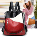 Backpack Sheepskin Other / other brand new in zipper leisure time Three Japan and South Korea soft youth no Telescopic handle Solid color Yes female Water splashing prevention Vertical square Zipper bag, mobile phone bag, certificate bag, sandwich zipper bag polyester fiber Splicing no 10 inches B