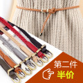 Belt / belt / chain other female belt Versatile Single loop Pin buckle other 0.8cm alloy weave