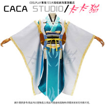 Cosplay women's wear suit goods in stock Over 14 years old Clothes wig clogs headdress fan game L m s XL average size Kaka cat Japan Ancient style Fat series
