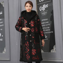 Women's large Winter 2020 black Big XXXL, big XXL, big XL, big L cotton-padded clothes singleton  other easy moderate Cardigan Long sleeves Solid color other Medium length other Make old routine T34 TCPP 35-39 years old 96% and above other other 141g / m ^ 2 (including) - 160g / m ^ 2 (including)
