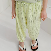 trousers Other / other female 5(90cm),7(100cm),9(110cm),11(120cm),13(130cm) White (scheduled for 7-15 days), yellow (scheduled for 7-15 days) summer trousers Korean version There are models in the real shooting Leggings High waist Other 100% Class A CHURROS
